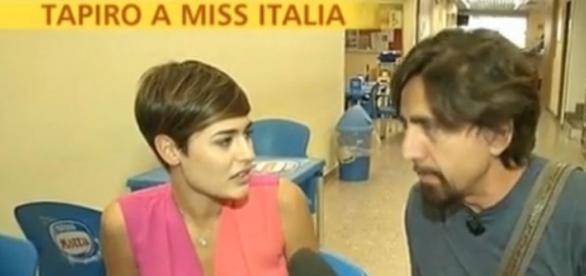 Alice Sabatini, Miss Italia 2015 con Staffelli