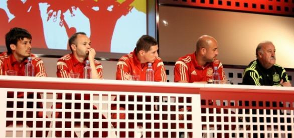 Rueda de prensa de jugadores de fútbol