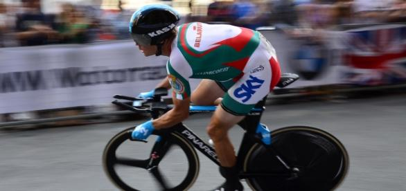 Imagen de Kiryenka en plena competición