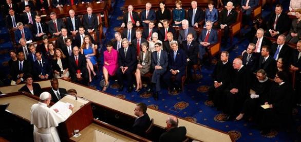 Papa Francisco discursa para o Congresso dos EUA