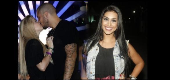 Amanda vai ao Rock in Rio, com o casal Ferline