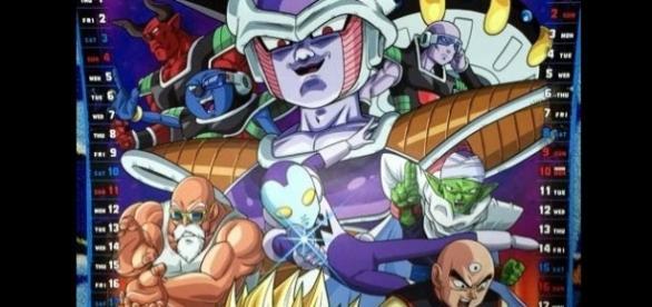 Imagen del calendario oficial de Dragon Ball Super