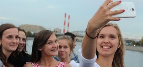 Polskie licealistki na wycieczce
