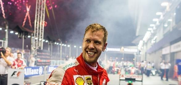 Vettel won his third Grand Prix of the season