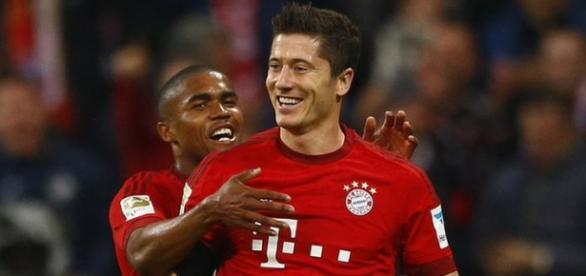 Robert Lewandowski strzelił 2 gole w meczu z Mainz