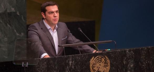 1.º Ministro grego discursa na ONU em 27/09/2015.
