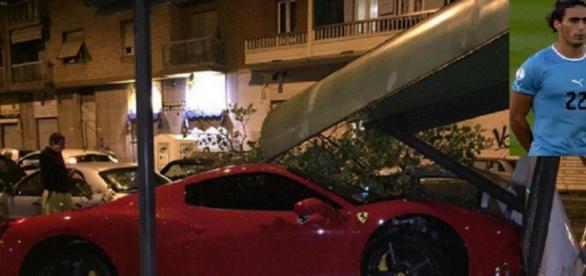 Así quedó el coche tras el accidente