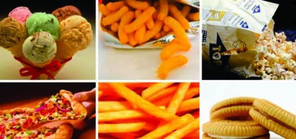 Alimentos que podem conter gordura trans.
