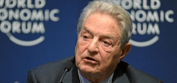 George Soros na Światowym Forum Ekonomicznym.