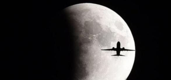 Imagem do eclipse da lua em Setembro de 2015