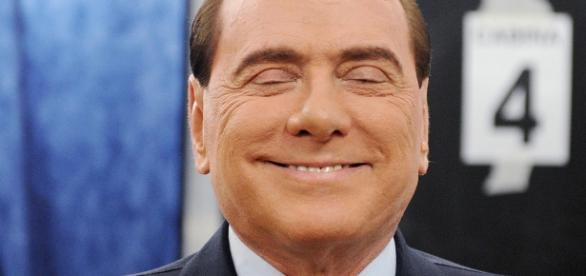 Silvio Berlusconi in un primo piano