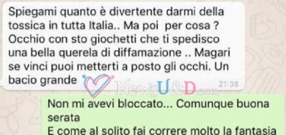 Valentina Dallari offende così Andrea Melchiorre