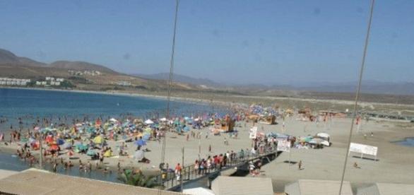 Antes a praia era lotada de banhistas