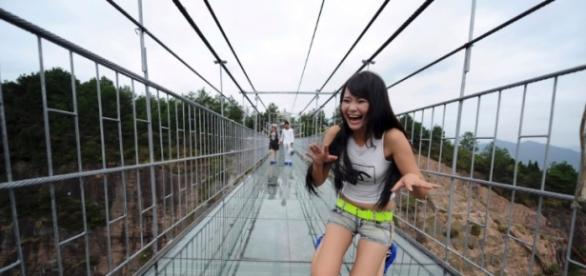 Ponte sobre a província de Hunan China
