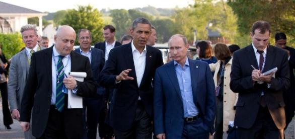 Putin y Obama juntos en una visita