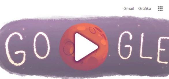 Woda na Marsie - print screen Google Doodle 09.29.