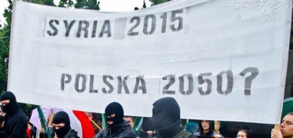 Zdjęcie z manifestacji. Autor: Marcin Budzyński