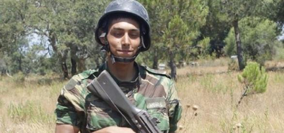 Mário Nunes enquanto militar da Força Aérea