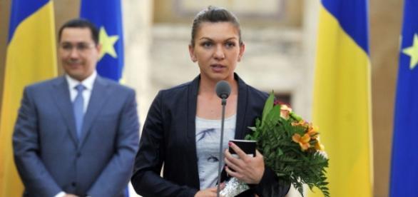 Simona Halep calificată foto gov.ro