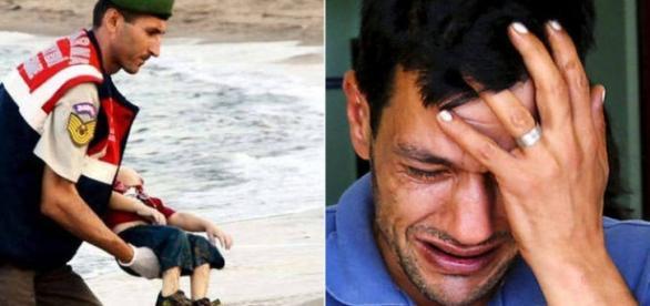 Abdullah chora pela morte de sua esposa e filhos