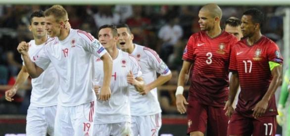 Em Aveiro, a Albânia venceu por 1-0.