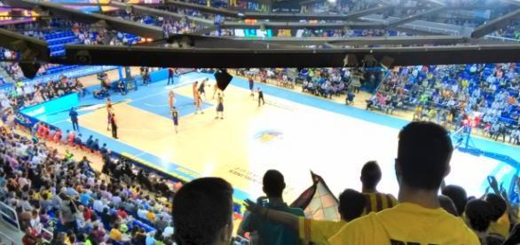 Partido de baloncesto de la liga