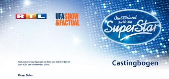 Casting zu DSDS Foto: Privat /Castingbogen von RTL