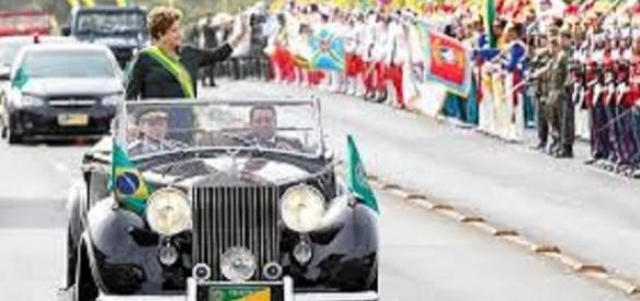 Desfile de 7 de setembro com a presidente Dilma.