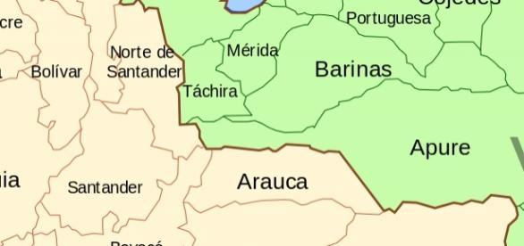 Fronteira entre Colombia e Venezuela