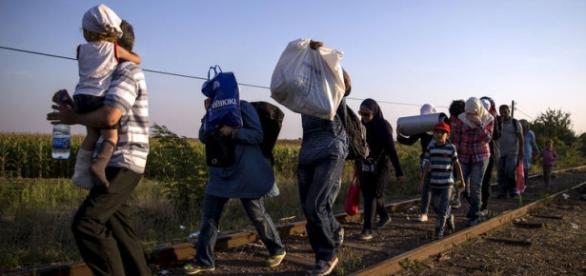 A chegada dos refugiados (Foto: Divulgação/Exame)