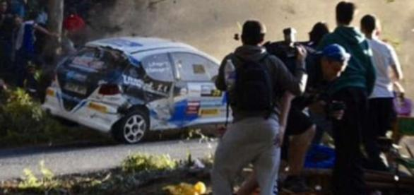 Maşina cu numărul 39 ce a provocat accidentul