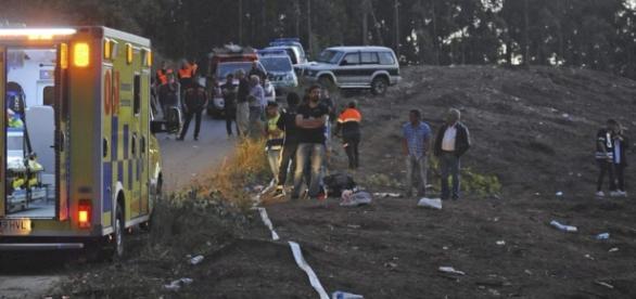 trágico rally en la Coruña fallecen seis personas