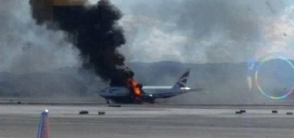 Un avion British Airways a luat FOC