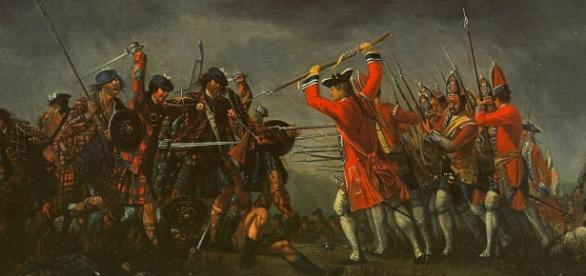 Die Schlacht bei Culloden-Gemälde von David Morier