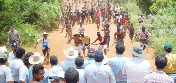Índios e Fazendeiros se enfrentam no MS.