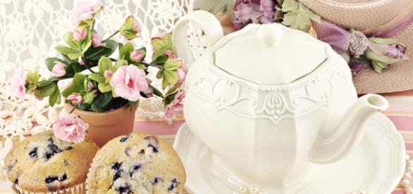Bule de Chá para encontro às 17h