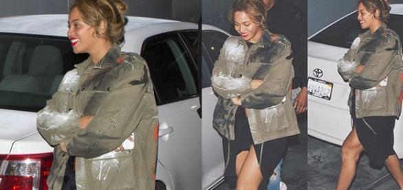Beyoncé com roupa larguinha (Foto: Instagram)