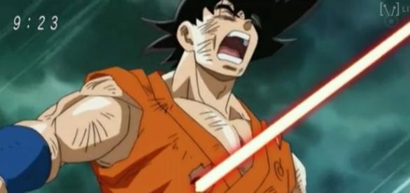Goku atacado por Sorbet en el capitulo 26