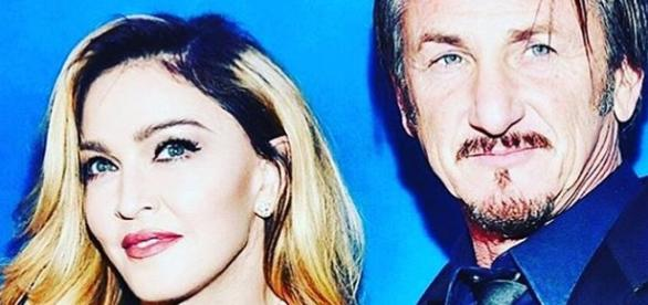 Madonna e Sean Penn (Foto: Instagram)
