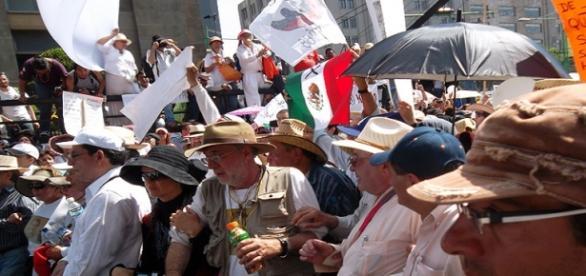 Marcha contra los cárteles de la droga en México.