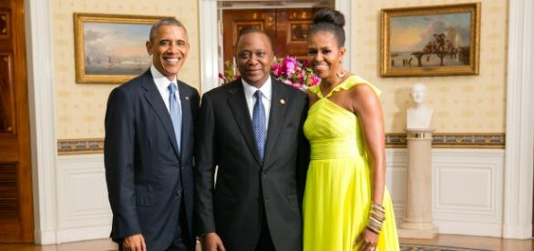 Pres. Kenyatta w/ US President and First Lady/wiki