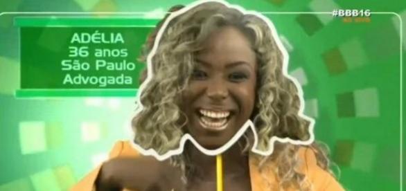 Adélia do BBB 16 - Foto/Reprodução: Globo