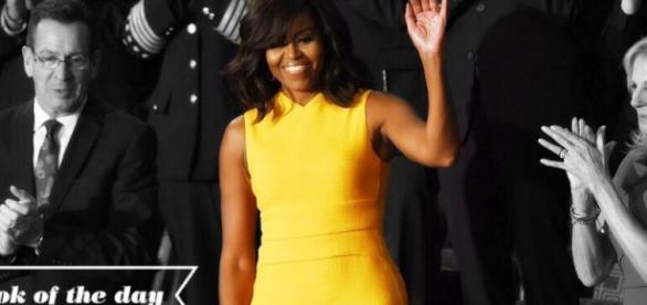 El vestido de Michelle Obama causó sensación