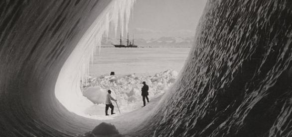 Grotto in an iceberg. Wikimedia CC