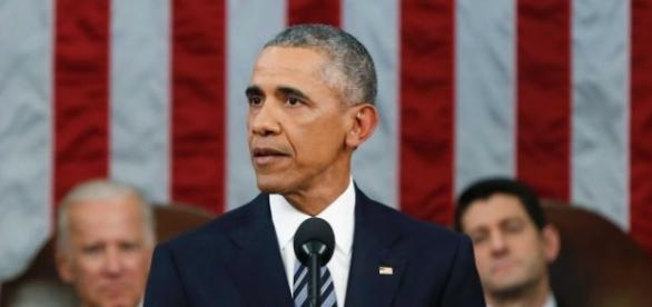 Obama durante lo State of Union Address