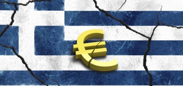 Viñeta que alude a la fracción de Grecia con el €