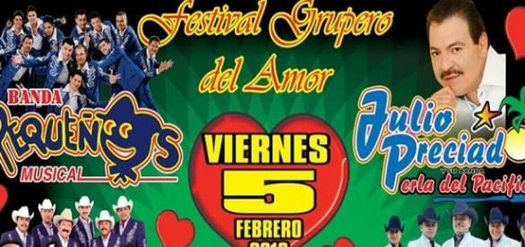 Cartel, primer Festival Grupero del Amor