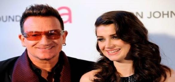 Eve Hewson, 24, e seu pai Bono Vox