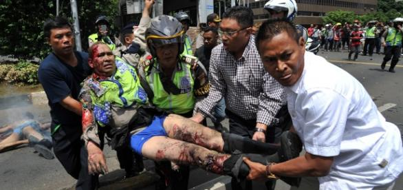 Indonesia bombings and gun Attack
