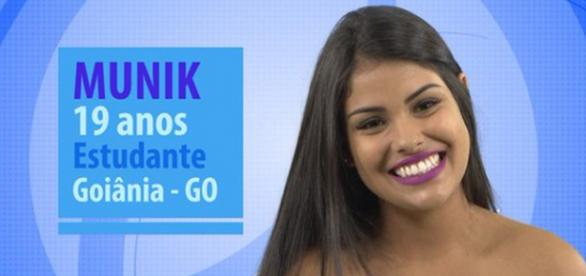 Munik tem 19 anos e está no BBB16
